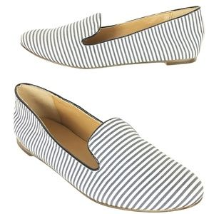 J. Crew Addie Size 7.5 Women's Blue & White Stripe